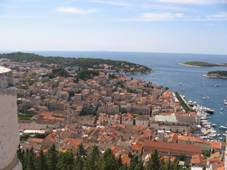 Panorama of Hvar town
