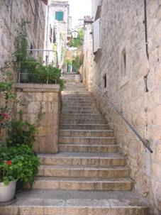 Narrow street in Hvar town