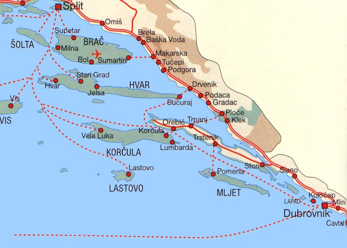 Google Map Croatia Islands