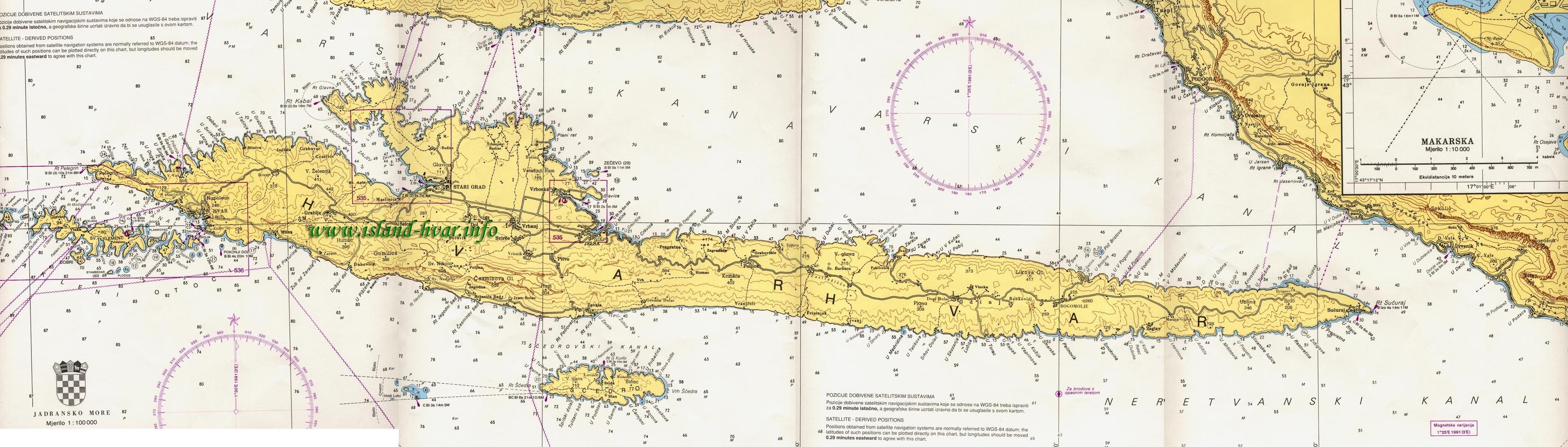 hvar mapa Island Hvar.info   How to reach Hvar? hvar mapa